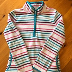 Girls Faded Glory quarter-zip pullover, large
